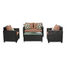 <strong>Patio Heaven</strong> Skye Venice 4 Piece Lounge Seating Group with Cushions