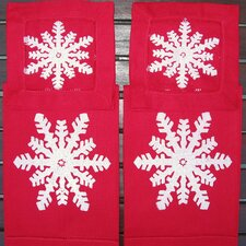 <strong>Lowcountry Linens</strong> Snowflake Guest Towel and Snowflake Cocktail Napkin Set
