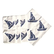 <strong>Lowcountry Linens</strong> Sailboat Dinner Napkin (Set of 4)