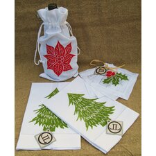 Poinsettia Tree and Holly Set