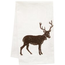 Organic Block Print Big Buck Towel