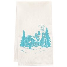 Organic Cabin Block Print Tea Towel