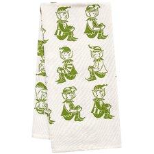 Organic Elves All Over Pattern Block Print Tea Towel
