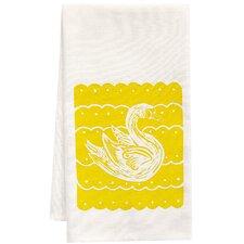 Organic Swan Block Tea Towel