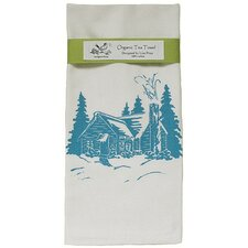 <strong>Artgoodies</strong> Organic Cabin Block Print Tea Towel