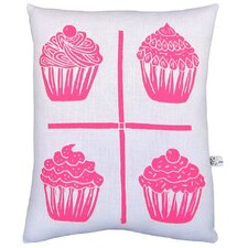 <strong>Artgoodies</strong> Cupcake Grid Block Print Squillow Accent Pillow