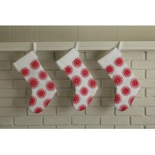 Doily Block Print Stocking