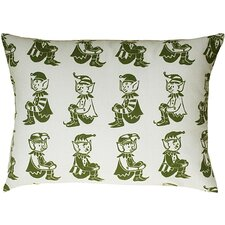 Elf All Over Pattern Block Print Accent Pillow