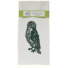 <strong>Artgoodies</strong> Organic Owl Block Print Tea Towel