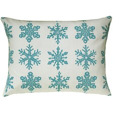 Snowflake All Over Pattern Block Print Accent Pillow