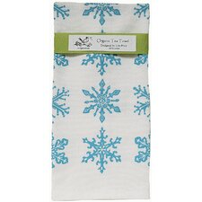 <strong>Artgoodies</strong> Organic Snowflake All Over Pattern Block Print Tea Towel