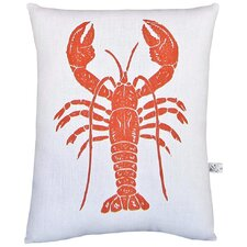 <strong>Artgoodies</strong> Lobster Block Print Squillow Accent Pillow