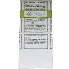 Organic Retro Recipes Entrée Tea Towel