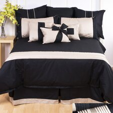 Tux Black Square Cushion