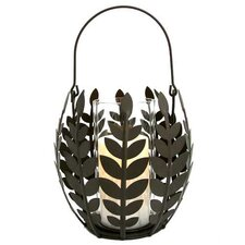 Wisteria Leaf Basket Candle Holder