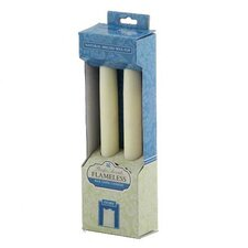 Wax Flameless Tapers Candle (Set of 2)