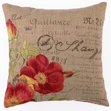 <strong>D.L. Rhein</strong> Orange Rose Down Filled Embroidered Pillow