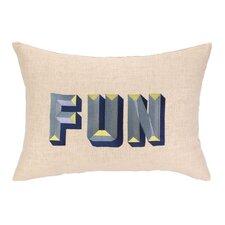 Fun Embroidered Decorative Pillow