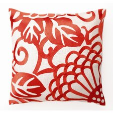 <strong>D.L. Rhein</strong> Chrysanthemum Down Filled Embroidered Linen Pillow