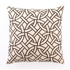 <strong>D.L. Rhein</strong> Circle Link Down Filled Embroidered Linen Pillow