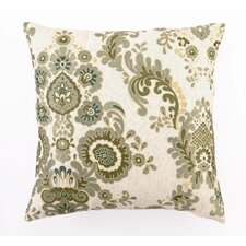 Marseilles Down Filled Embroidered Linen Pillow