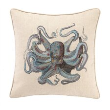 Reef Octopus Feather Down Pillow