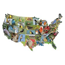 <strong>TDC Games</strong> State Birds USA Shaped Puzzle