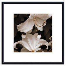 <strong>Barewalls</strong> White Lilies Metal Framed Art Print