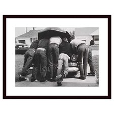 Boys with Their First Car, 1957 by A. Owen Framed Photographic Print