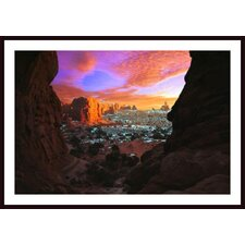 Rocky Buttes Viewed Through Canyon Wall Art by Corey Hochachka
