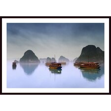 Hotel Junks, Halong Bay, Vietnam Wall Art by Carson Ganci