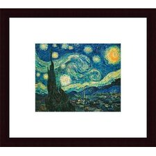 'Starry Night' by Vincent Van Gogh Framed Painting Print