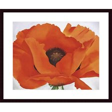 <strong>Barewalls</strong> Red Poppy by Georgia Okeefe Wood Framed Art Print