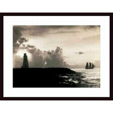 <strong>Barewalls</strong> The Bahamas Nassau Harbor Lighthouse, 1927 Wood Framed Art Print