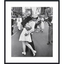 V-J Day at Times Square, New York City, 1945 Metal Framed Art Print