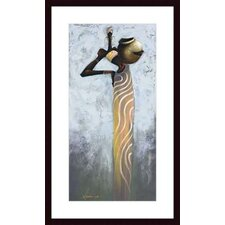 <strong>Barewalls</strong> Aquarius I Wood Framed Art Print