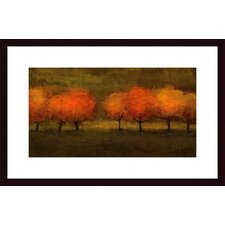 <strong>Barewalls</strong> Red Trees II by Seth Winegar Wood Framed Art Print