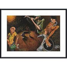 <strong>Barewalls</strong> The Get Down Metal Framed Art Print