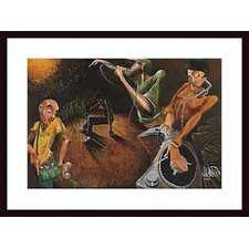 <strong>Barewalls</strong> The Get Down Wood Framed Art Print
