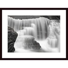 <strong>Barewalls</strong> Cascade #2 Wood Framed Art Print
