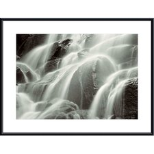 Waterfall, Yosemite Metal Framed Art Print