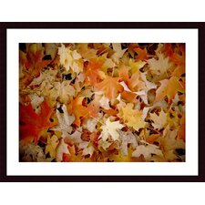 <strong>Barewalls</strong> Maple Leaf Carpet Wood Framed Art Print