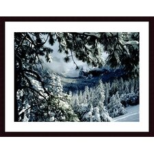 <strong>Barewalls</strong> First Snow Wood Framed Art Print