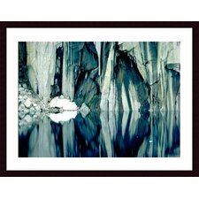 <strong>Barewalls</strong> Precipice Lake Wood Framed Art Print