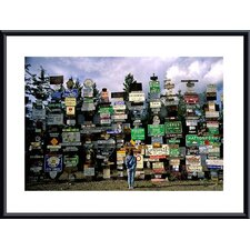 <strong>Barewalls</strong> Sign Post Forest Metal Framed Art Print