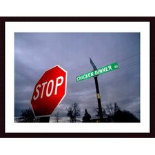 <strong>Barewalls</strong> Chicken Dinner Road Wood Framed Art Print