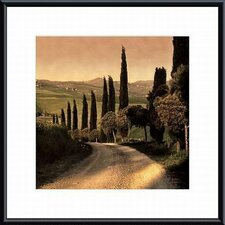 <strong>Barewalls</strong> Country Lane, Tuscany Metal Framed Art Print