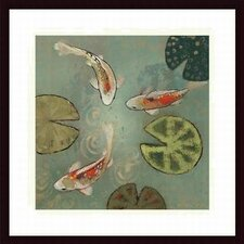 'Floating Motion II' by Aleah Koury Framed Graphic Art