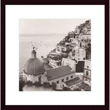 <strong>Barewalls</strong> Positano Vista Wood Framed Art Print