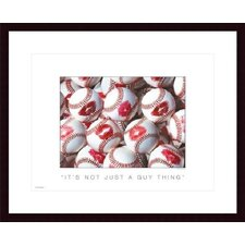 <strong>Barewalls</strong> It's Not Just a Guy Thing Wood Framed Art Print